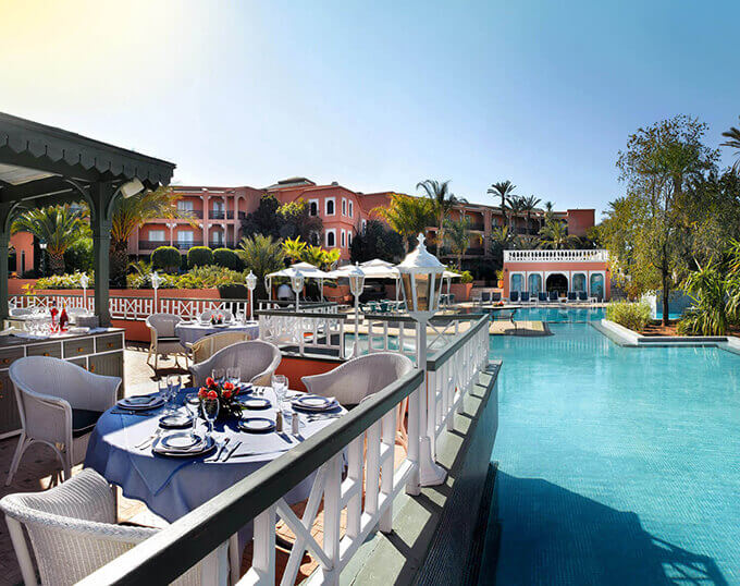 La piscine et détente au PalmGolf Resorts Marrakech