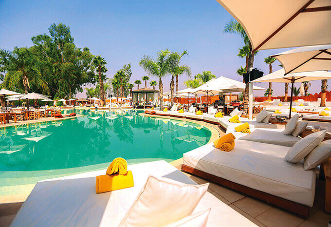 La terrasse du Nikki Beach au Palm Golf Resorts Marrakech