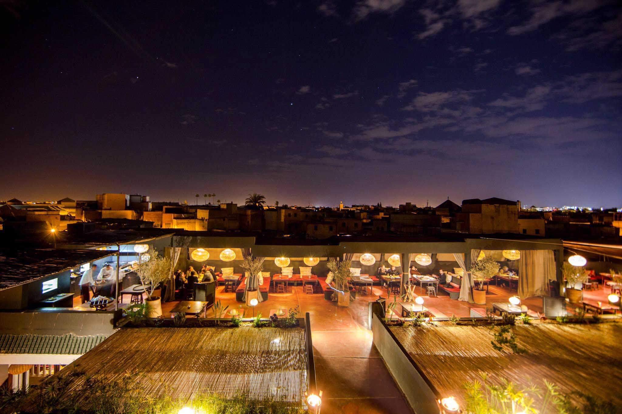 Dîner sur les toits de Marrakech à la Terrasse des Épices