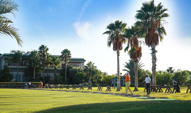 Cours et leçons collectives au practice du Palm Golf Marrakech